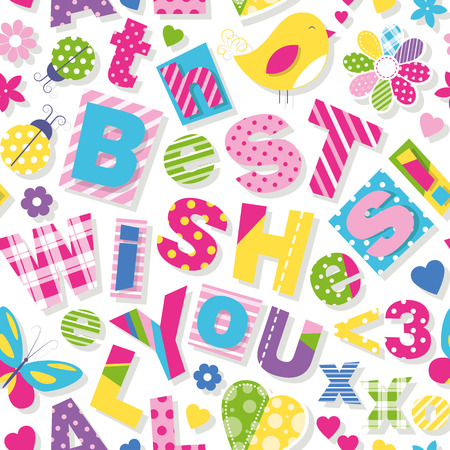 wish you all the best wishes pattern