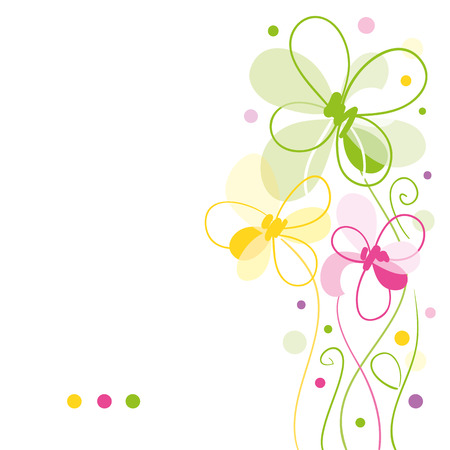 colorful frame: floral greeting card