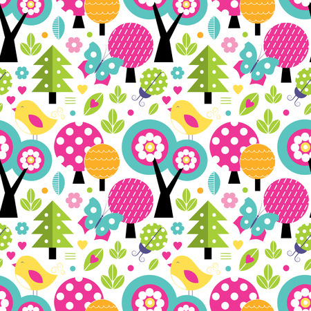 cute forest pattern