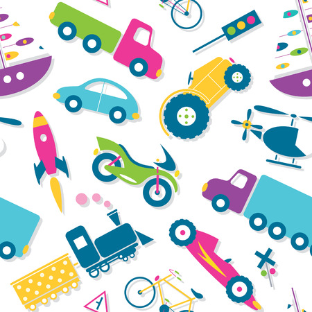 cars race: colorful vehicles pattern