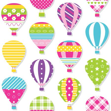 caliente patrón de globos de aire