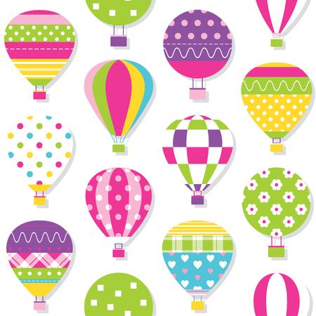 ballooning: hot air balloons pattern