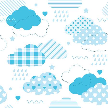 blue clouds pattern