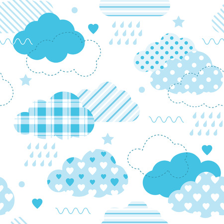 blue clouds pattern