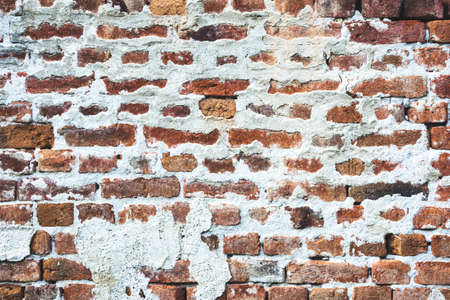 Close-up photo of an old brick wall, texture with copy space. Good pattern for design. Reklamní fotografie