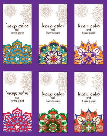 bussiness card: Greeting card Indian design, paisley design.