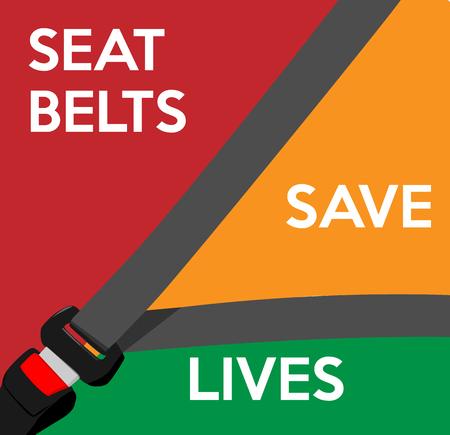 Sicherheitsgurte retten Leben. Vektor-Illustration.