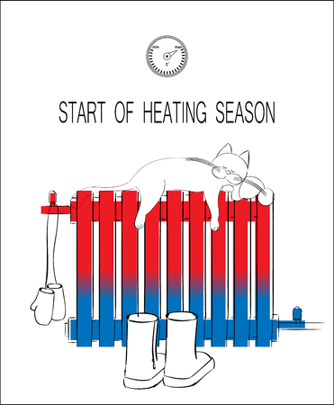 Start of heating seasons drawing concept.