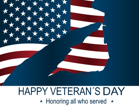 Captain silhouette memorial day. Happy veteran's day poster or banners – On November 11. USA flag as a background.