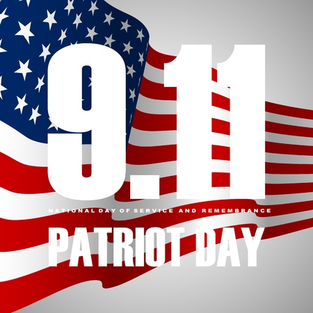 911 Patriot Day background, American Flag stripes background.