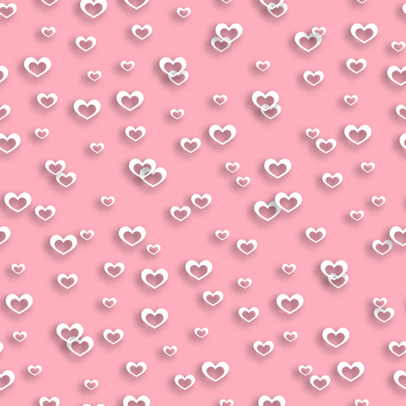 wedding backdrop: Seamless pattern heart, pink, valentines day, valentine background, cupid, love design, wrapping paper, texture holiday, wedding backdrop, marriage decoration beautiful. Vector illustration