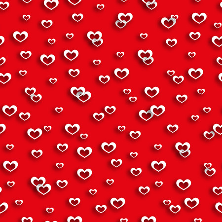 wedding backdrop: Seamless pattern heart, red, valentines day, valentine background, cupid, love design, wrapping paper, texture holiday, wedding backdrop, marriage decoration beautiful. Vector illustration Illustration