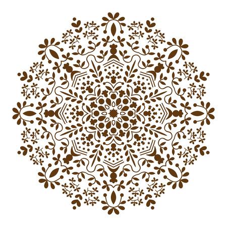 Mandala. Ethnic decorative elements, round ornament circular ornament yoga design meditation indian arabic henna asian  islam bohemian tribal religion motif. White background. Vector illustration