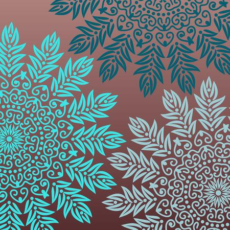 henna tattoo: Background mandala Illustration