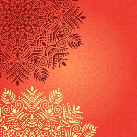henna background: Background mandala chakra  Illustration