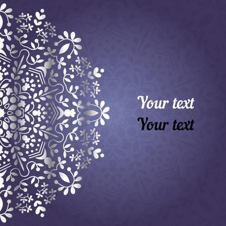 henna tattoo: Blue background mandala
