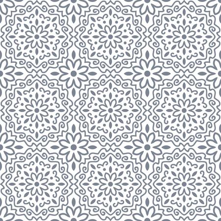 ornament mandala seamless pattern  イラスト・ベクター素材