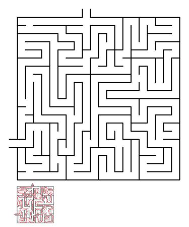 conundrum: Labyrinth maze puzzle labyrinth , labyrinth maze,  game maze kids maze lost, labyrinth game. illustration