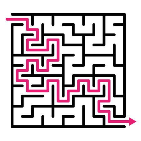 Labyrinth maze puzzle labyrinth vector, labyrinth maze, game maze vector kids maze lost, labyrinth game. Vector illustration Illustration