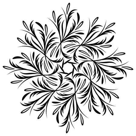 medallion: Mandala background vector, medallion, art yoga tibetan.