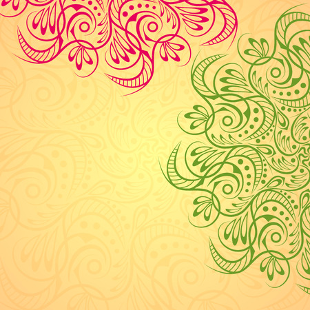 tibetan: Mandala background art tribal medallion vector yoga tibetan.