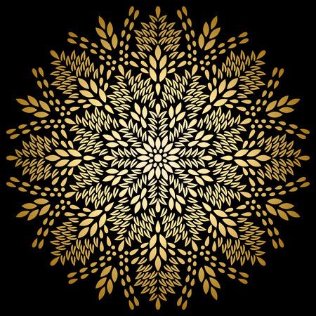 medallion: Mandala gold, tribal vintage background with a medallion.