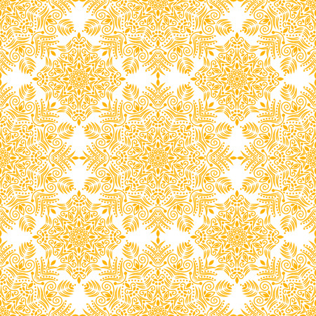 traditional pattern: Flower pattern, ottoman tribal vintage decorative element Illustration