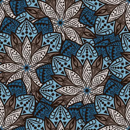 Mandala nahtlose Muster. Jahrgang Hintergrund mit runden Schmuck, dekorativen indischen Medaillon, abstrakt Lotusblume Element. Vector design