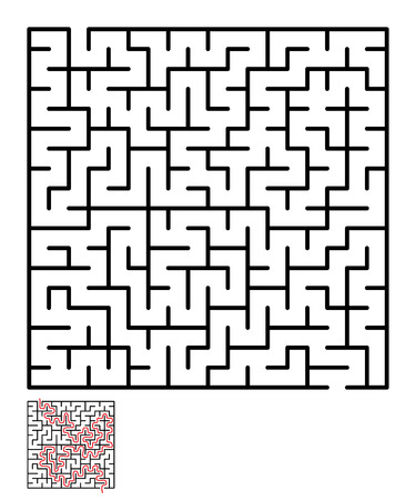 lost child: Labyrinth, maze conundrum for kids. Entry and exit. Children puzzle game. Vector illustration