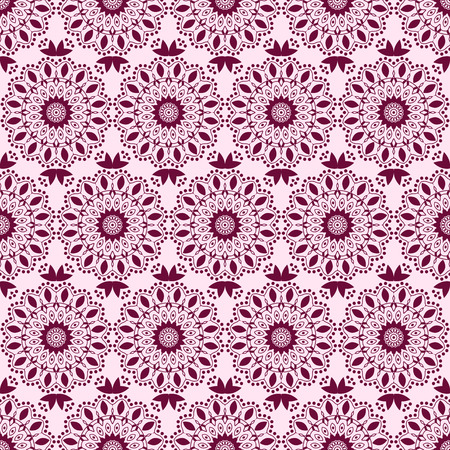 vinous: Arabic pattern. Indian, islamic, ethnic, oriental motifs. Seamless pattern. Bohemian background. Print for fabric and paper. Vector illustration