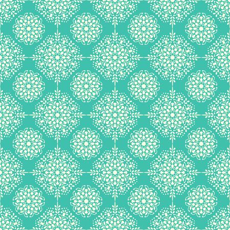 Arabic pattern. Indian, islamic, ethnic, oriental motifs. Mandala seamless pattern. Bohemian background. Print for fabric and paper. Vector illustration