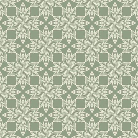 Indian pattern. Arabic, islamic, ethnic, oriental motifs. Mandala seamless pattern. Bohemian background. Print for fabric and paper. Vector illustration Illustration