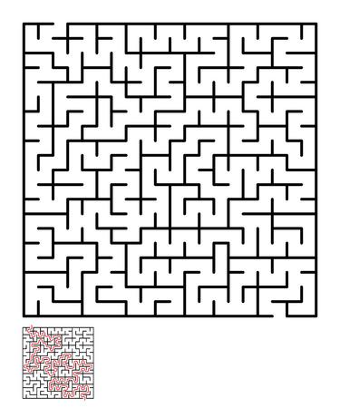 conundrum: Labyrinth, maze conundrum for kids. Illustration