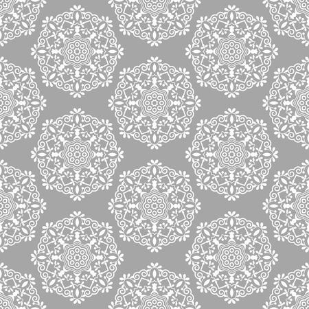 イスラムのパターン。アラビア語、インド、日本のモチーフ。マンダラのシームレスなパターン。ボヘミアの民族的背景。ラッピングやスクラップ   イラスト・ベクター素材