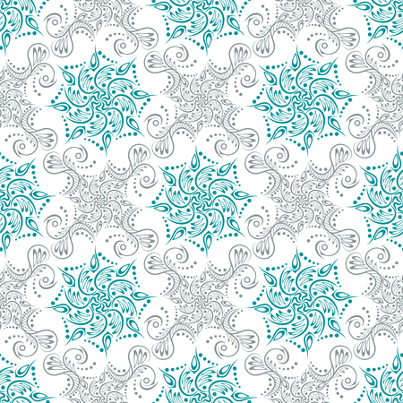 Arabic pattern. Islamic, indian, japanese motifs. Mandala seamless pattern. Ethnic bohemian background. Wrapping and scrapbook paper. Abstract flower. Print for fabric. Vector illustration Иллюстрация