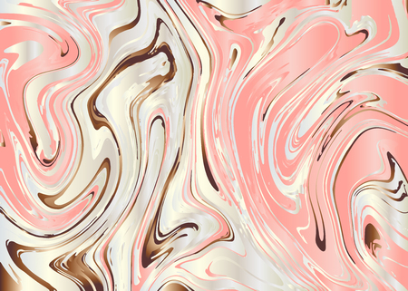 Marble texture background. Liquid marble texture abstract design. Natural watercolor marbling pattern. Fabric and gift wrapping paper design. Vector illustration 矢量图像