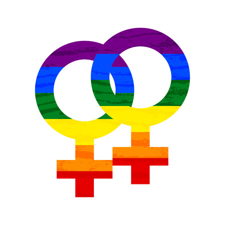Lesbian, gay, bisexual, transgender LGBT pride symbol and sign. Gay and lesbian love. Rainbow vector stock illustration Banque d'images - 101992288