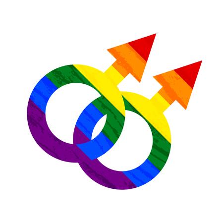 Lesbian, gay, bisexual, transgender LGBT pride symbol and sign. Gay and lesbian love. Rainbow vector stock illustration Illusztráció
