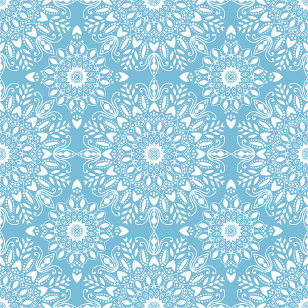 Islamic pattern. Arabic, indian, japanese motifs. Mandala seamless pattern. Ethnic bohemian background. Wrapping and scrapbook paper. Abstract flower. Print for fabric. Vector illustration