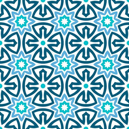 Stained glass window seamless pattern. Background mandala stained glass. Mosaic medallion pattern. Vector stock illustration