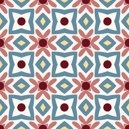 Mandala pattern seamless. Arabic, indian, japanese, islamic motifs. Vintage pattern. Ramadan kareem and Hari Raya background. Ethnic bohemian background. Abstract flower. Vector illustration