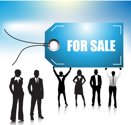 Vector illustration of business people Stock Vector - 24592614