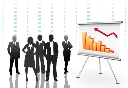 Vector illustration of business people.  Illustration