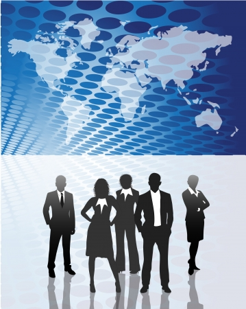 Vector illustration of business people Stock Vector - 24592673