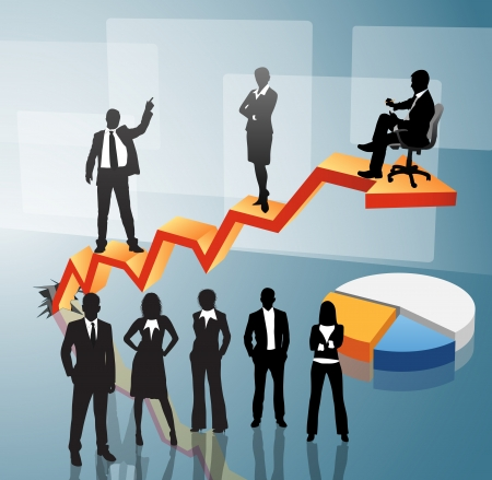 Vector illustration of business people Stock Vector - 24592754