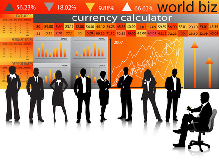 Vector illustration of business people Stock Vector - 24592761