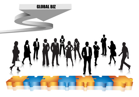 Vector illustration of business people Stock Vector - 24592763