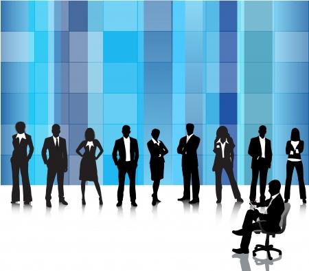 Vector illustration of business people Çizim