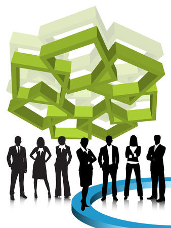Vector illustration of business people Stock Vector - 24592845