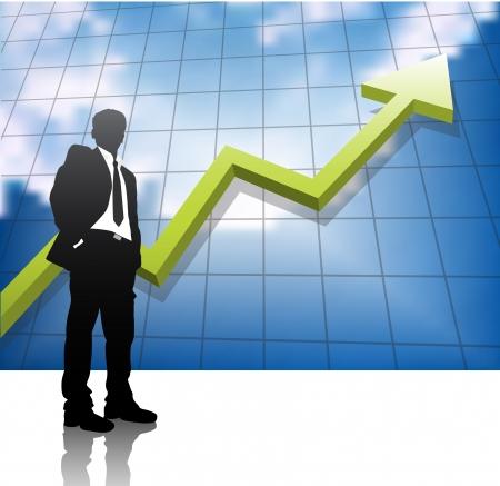 Vector illustration of business people.  Çizim